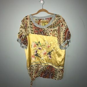 JOHNNY WAS boho chic blouse